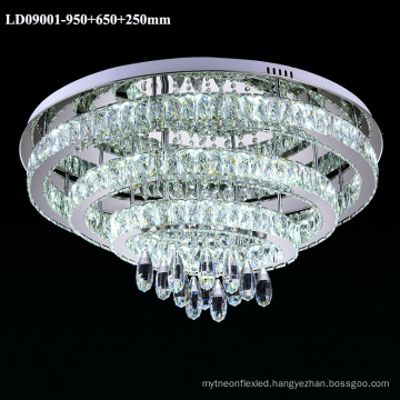 3 rings chandelier crystal LED light indoor ceiling lamp