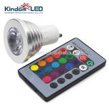 Alibaba Quality GU10/E27/E14/MR16 IR Remote Control Led 3W 5W RGB Intelligent Bulb with CE Rohs