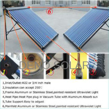 High Pressure Glass Tube Solar Collector System