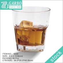 8oz Durable Customized Unbreakable Plastic Whisky Cup