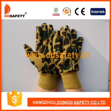 Guantes de trabajo de diseño de camuflaje, guantes de seguridad (DCD411)