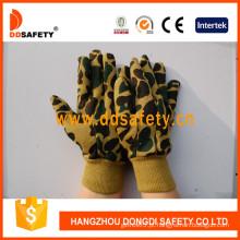 Camuflagem luvas de trabalho de design, luvas de segurança (DCD411)