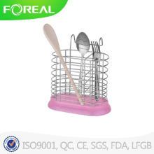 Titular de utensílio de Metal de forma redonda com Base de plástico