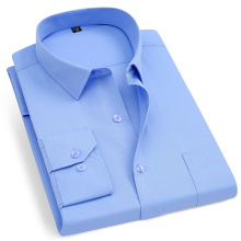 Sky Blue Dress Shirts Long Sleeve Men's Shirts