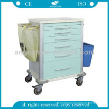 AG-MT025 CE ISO Metal Material Durable Hospital Wheeled Tool Cart