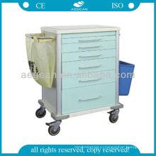 АГ-MT025 с CE Материал металла прочный больнице колесной тележке инструмент