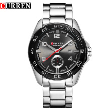 curren business men watch with sub-dial design alloy watch