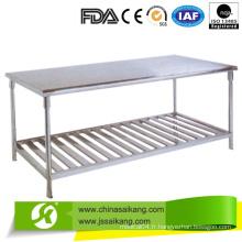 Double table de travail en acier inoxydable avec prix compétitif