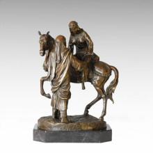 Östliche Figur Statue Hochzeit Paar Bronze Skulptur TPE-037