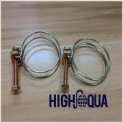 High Quality Cheap Double Wire Hose Clamp, Non-Perforated Band Stainless Steel Hose Clamp