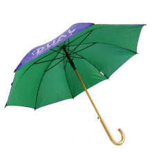 Two layer canopy logo brolly customized promotional golf umbrellas, double layer logo printing auto umbrella