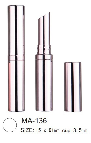 round slim aluminum lipstick packaging