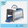 Cuna plegable de aluminio del bebé con la red de mosquito alta (SH-A1)