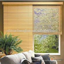 Home decoración sala de estar cortina de espuma de madera persianas venecianas