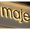 Signo de letras 3D y señalización de resina Signo de señal LED de señales de neón