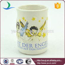 YScc0010-1 White Christmas Angel Wing Mug