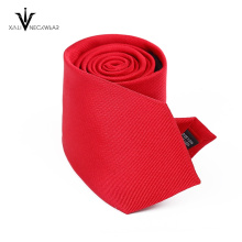 Stripe bright red neck tie excellent quality men tie