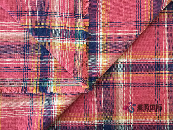 Both Sides Of Bamboo Yarn Plaid Fabric