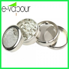 Hot Selling Weed Grinder with Handle CNC Herb Geinder Zinc Alloy Herb Grinder Windown Tobacco Grinder