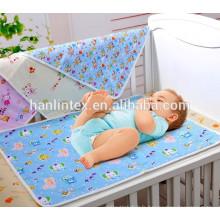 C32 * 12 40 * 42 impression personnalisée en tissu de flanelle pour le lit / Literie de bébé Tissu de flanelle de coton teintée