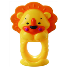Anillo de baño infantil Toy Lion Teether Bell Toy