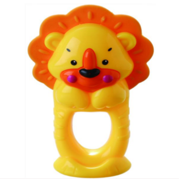 Spädbarn Badring Leksak Lion Teether Bell Toy