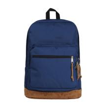 Blauer Polyester Laptop Rucksack mit Samtunterseite