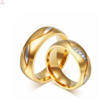 Nouveaux anneaux de diamant de fiançailles de couple de mode pour l'amant
