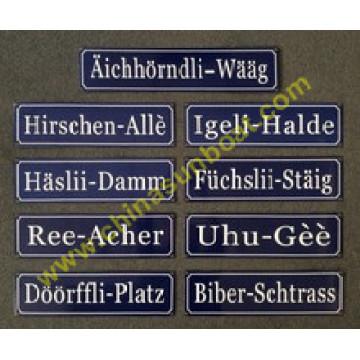 Cast Iron Enamel Street Sign Board