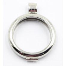 28mm Rd pendentif en acier inoxydable pour collier bijoux