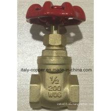 Válvula de puerta de latón forjado de calidad superior (IC-4032)
