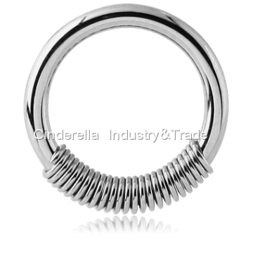 Surgical Steel Spring Ball Closure Ring