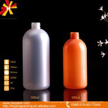 300 garrafa plástica colorida do animal de estimação da pérola 500ml com bomba de pulverizador branca