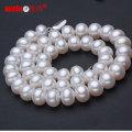 8-9mm clássico naturais de água doce jóias colar de pérolas (e130012)