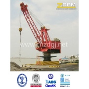 Fixo ao largo pedestal guindaste marinho, carregamento e descarregamento de rotação de 360 graus