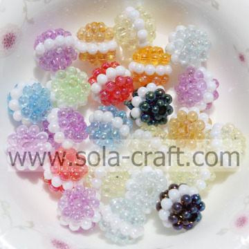10MM Mix Color Transparante Sandwich Acryl Berry Beads met een gat