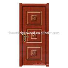 Diseño clásico popular Melamina Diseño más reciente Puertas de madera