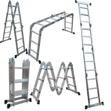 EN131 Aluminum 3-section combinationextension ladder attic