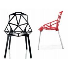 Red Polycarbonate (PC) Repose en résine Outdoor Dining Napoleon Chair