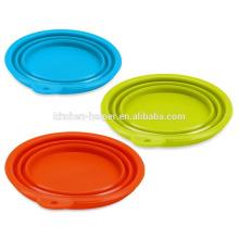 Heißer Verkauf China-Hersteller Zusammenklappbarer Nahrungsmittelgrad-Silikon erhitzte Haustier-Schüssel / zusammenklappbare Haustier-Hundekatze-Schüssel