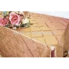 Tafetá pintuck toalha de mesa (4 ' Square), toalha de mesa ao ar livre, tampa de tabela do Hotel/banquete