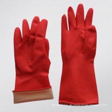 Rote Farbe Rough beschichtet auf Palme Haushalt Latex Arbeitshandschuh