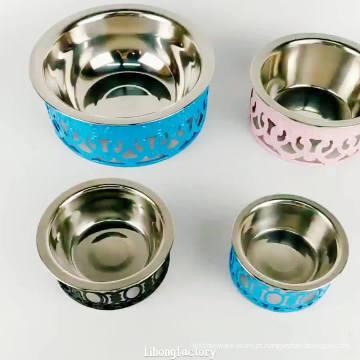 bacia de alimentação de aço inoxidável feita sob encomenda amigável do cão dos alimentos para animais de estimação do eco