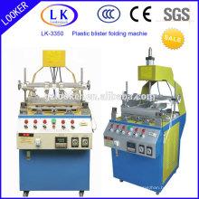 Venda quente plástico tampa de três bordas dobra máquina prensagem máquina