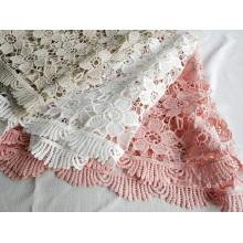 Dentelle chimique fantaisie en polyester pour robe de femme