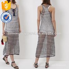 Новый военно-морской флот Мода и белый полосатый крючком платье Производство Оптовая продажа женской одежды (TA5222D)