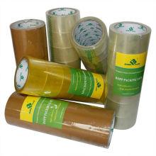 Muestras gratis adhesivo de embalaje de caja amarillenta Cinta BOPP