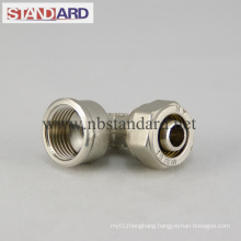 Brass Compression Fitting with Female Thread Elbow