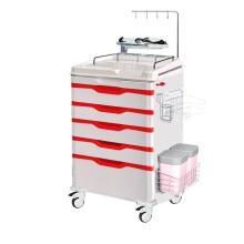 Hospital ABS Steel Artistic Emergency Trolley