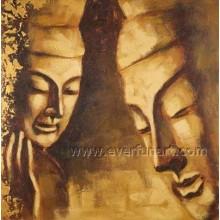 Decoração da parede Pintura moderna da lona de Buddha (BU-025)